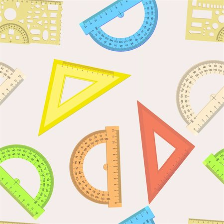 Seamless wallpaper the ruler and protractor line of the triangle vector background Stock Photo - Budget Royalty-Free & Subscription, Code: 400-06079081