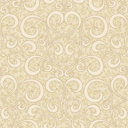 abstract beige flourish floral swirl seamless background pattern Stock Photo - Budget Royalty-Free & Subscription, Code: 400-06079605