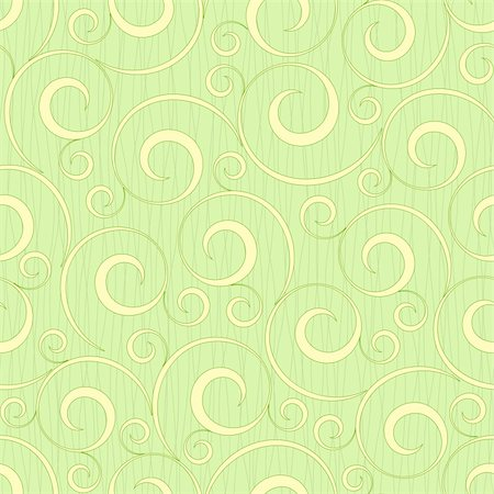 abstract light green flourish floral swirl seamless background pattern Stock Photo - Budget Royalty-Free & Subscription, Code: 400-06079602