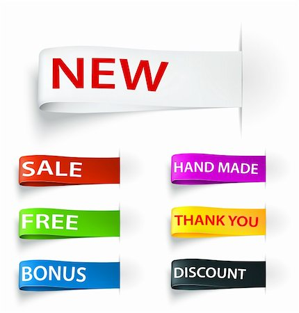 Set of tag sticker label. Vector illustration Stock Photo - Budget Royalty-Free & Subscription, Code: 400-06079838