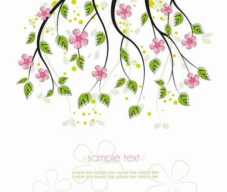 elegant wedding floral graphic - branch with pink flowers on a white background Stock Photo - Budget Royalty-Free & Subscription, Code: 400-06079883