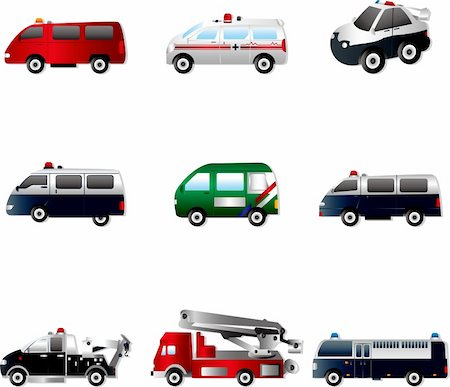Vector illustration of different types car Stock Photo - Budget Royalty-Free & Subscription, Code: 400-06070322