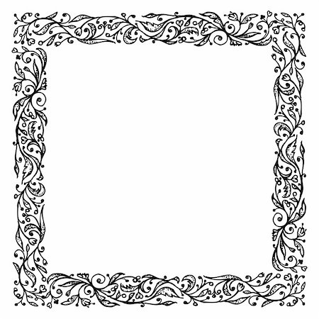 Ornamental frame, hand drawing for your design Stock Photo - Budget Royalty-Free & Subscription, Code: 400-06070844