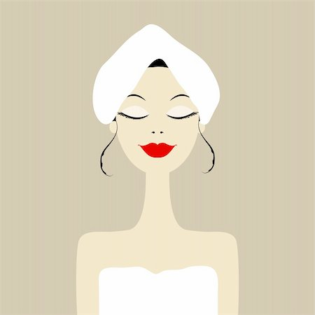 Pretty woman in spa salon Stock Photo - Budget Royalty-Free & Subscription, Code: 400-06070872