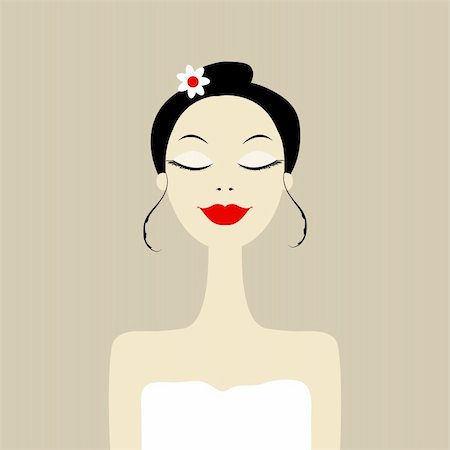 Pretty woman in spa salon Stock Photo - Budget Royalty-Free & Subscription, Code: 400-06070873