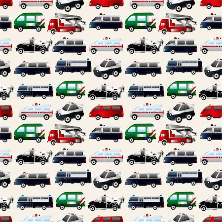 different types car seamless pattern Stock Photo - Budget Royalty-Free & Subscription, Code: 400-06070930