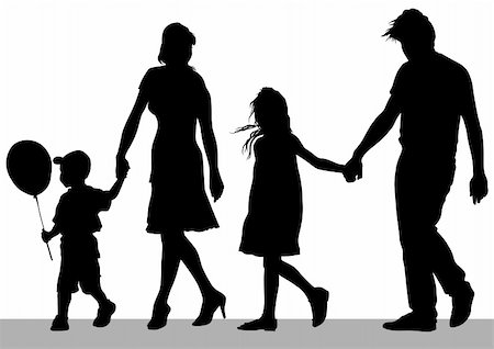 Vector drawing parents and childs Stock Photo - Budget Royalty-Free & Subscription, Code: 400-06071211
