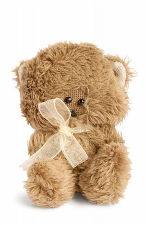 simsearch:400-04598294,k - Cute teddy on white background Stock Photo - Budget Royalty-Free & Subscription, Code: 400-06073047