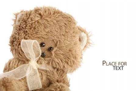 simsearch:400-04598294,k - Cute teddy on white background Stock Photo - Budget Royalty-Free & Subscription, Code: 400-06073048