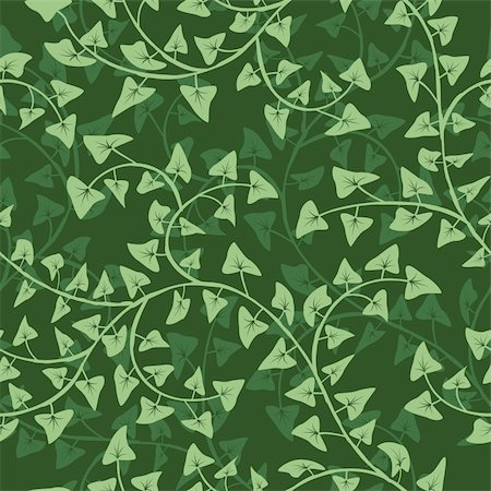 plant leaf paintings graphic - Vector abstract ivy seamless repeat pattern background Stock Photo - Budget Royalty-Free & Subscription, Code: 400-06073437
