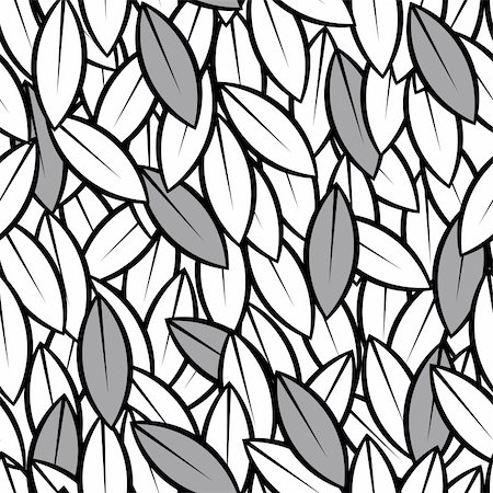 simsearch:400-04744132,k - vector seamless abstract leaves background black and white Stock Photo - Budget Royalty-Free & Subscription, Code: 400-06073604
