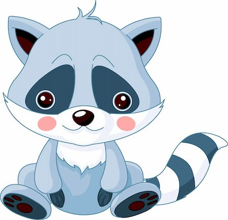 simsearch:400-04598294,k - Fun zoo. Illustration of cute Raccoon Stock Photo - Budget Royalty-Free & Subscription, Code: 400-06084086