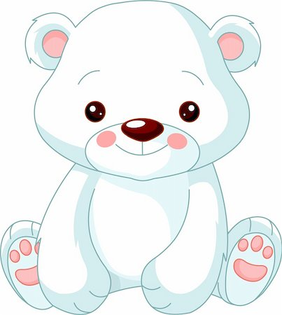 simsearch:400-04598294,k - Fun zoo. Illustration of cute Polar Bear Stock Photo - Budget Royalty-Free & Subscription, Code: 400-06084087