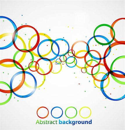 Abstract circle colorful background. Vector illustration eps10 Stock Photo - Budget Royalty-Free & Subscription, Code: 400-06084333