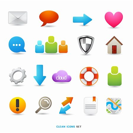A Collection of Icons and Symbols, vector designs. Stock Photo - Budget Royalty-Free & Subscription, Code: 400-06085157