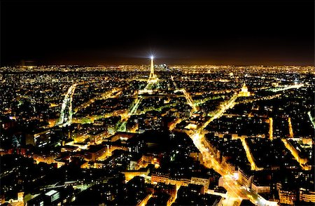 Panoramic view of Paris from the Monparnas tower Stock Photo - Budget Royalty-Free & Subscription, Code: 400-06086769