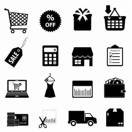 soleilc (artist) - Shopping and ecommerce icon set Stock Photo - Budget Royalty-Free & Subscription, Code: 400-06087251
