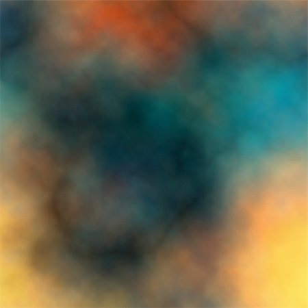 Editable vector colorful smokey background made using a gradient mesh Stock Photo - Budget Royalty-Free & Subscription, Code: 400-06087793
