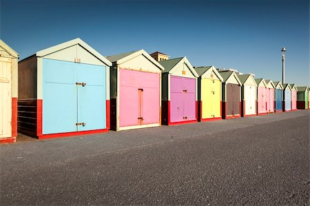 simsearch:400-04638538,k - An image of the nice Brighton beach huts Stock Photo - Budget Royalty-Free & Subscription, Code: 400-06088892