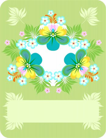 plant leaf paintings graphic - Illustration of abstract floral background Stock Photo - Budget Royalty-Free & Subscription, Code: 400-06088935