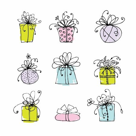 Gift box icons for your design Stock Photo - Budget Royalty-Free & Subscription, Code: 400-06080915