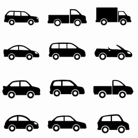 soleilc (artist) - Cars and trucks in black Stock Photo - Budget Royalty-Free & Subscription, Code: 400-06081204