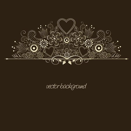 decoration with flowers on brown background Stock Photo - Budget Royalty-Free & Subscription, Code: 400-06082540