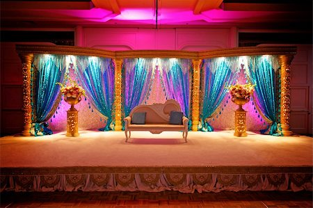 Image of a very colorful Indian Wedding Mandap Stock Photo - Budget Royalty-Free & Subscription, Code: 400-06094769