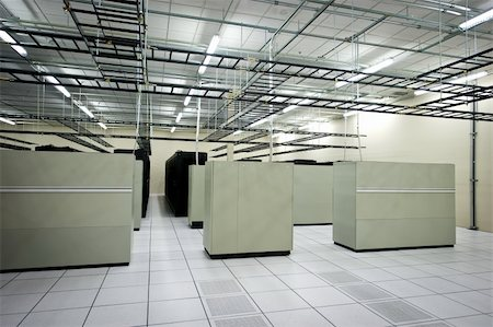Interior view of a data center with equipment Stock Photo - Budget Royalty-Free & Subscription, Code: 400-06094772