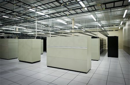 Interior view of a data center with equipment Stock Photo - Budget Royalty-Free & Subscription, Code: 400-06094773