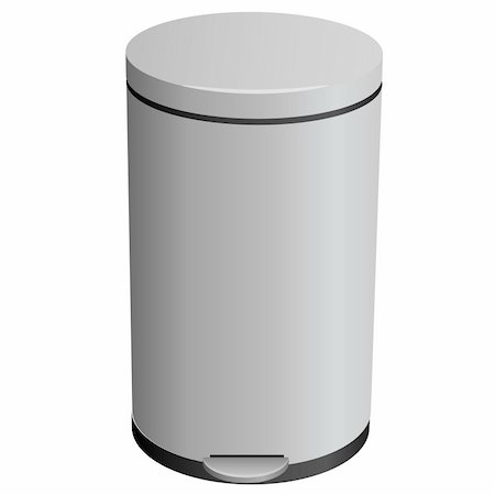 Closed trash can. Also available as a Vector in Adobe illustrator EPS format, compressed in a zip file. The vector version be scaled to any size without loss of quality. Stock Photo - Budget Royalty-Free & Subscription, Code: 400-06094805