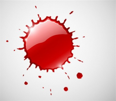 spot paint - red ink blob splash. Vector illustration. EPS10. Transparent objects used for shadows and lights drawing. Stock Photo - Budget Royalty-Free & Subscription, Code: 400-06095348