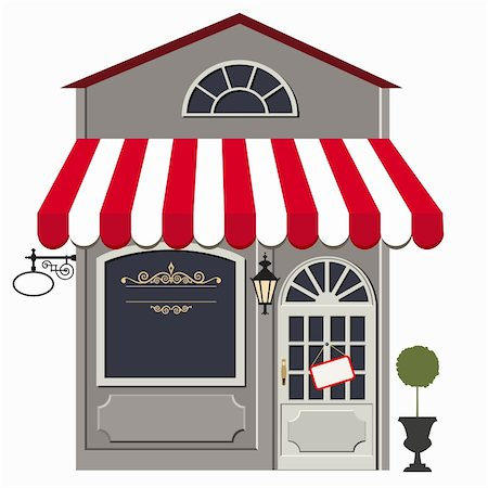 elakwasniewski (artist) - Vector illustration of little cute retro store, shop or boutique. No gradient used Stock Photo - Budget Royalty-Free & Subscription, Code: 400-06095416