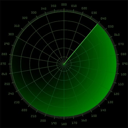 scope - detailed illustration of a blank radar screen Stock Photo - Budget Royalty-Free & Subscription, Code: 400-06095811