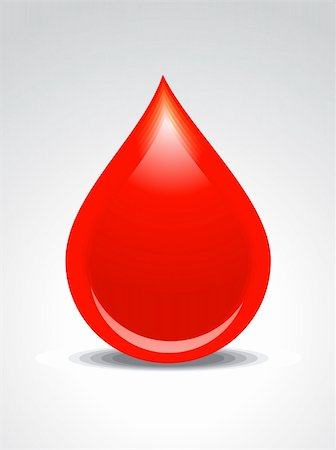abstract blood drop vector illustration Stock Photo - Budget Royalty-Free & Subscription, Code: 400-06096171