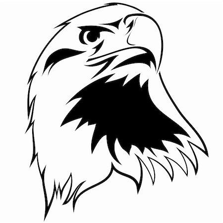 pzromashka (artist) - stylized image of an eagle. Black and white tattoo Stock Photo - Budget Royalty-Free & Subscription, Code: 400-06096330