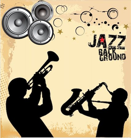 Jazz music background Stock Photo - Budget Royalty-Free & Subscription, Code: 400-06096630