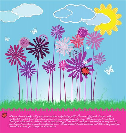 flores - Cute spring background Stock Photo - Budget Royalty-Free & Subscription, Code: 400-06096654