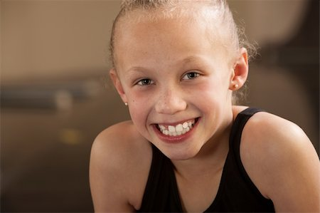 Close up of a happy biracial child dancer Stock Photo - Budget Royalty-Free & Subscription, Code: 400-06097049