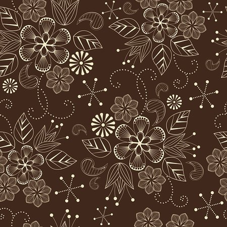 simsearch:400-04765926,k - seamless pattern with flowers on a brown background Stock Photo - Budget Royalty-Free & Subscription, Code: 400-06098955