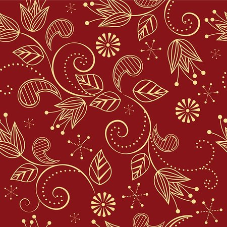 simsearch:400-04765926,k - seamless pattern with flowers on a red background Stock Photo - Budget Royalty-Free & Subscription, Code: 400-06099373