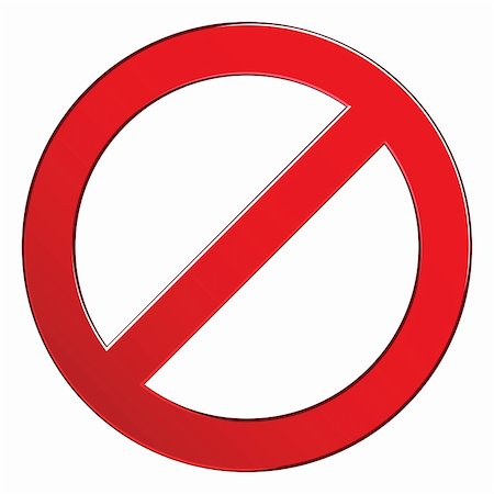 svetap (artist) - Sign forbidden circle. Prohibited red symbol isolated vector illustration. Stock Photo - Budget Royalty-Free & Subscription, Code: 400-06091091
