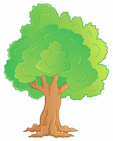 Tree theme image 1 - vector illustration. Stock Photo - Budget Royalty-Free & Subscription, Code: 400-06091845