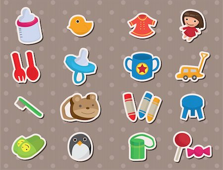 simsearch:400-04598294,k - baby stuff stickers Stock Photo - Budget Royalty-Free & Subscription, Code: 400-06092726