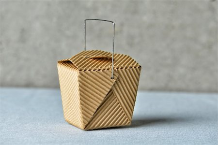 """Image of a generic """"to go"""" box made of recycled brown cardboard Stock Photo - Budget Royalty-Free & Subscription, Code: 400-06092949"""