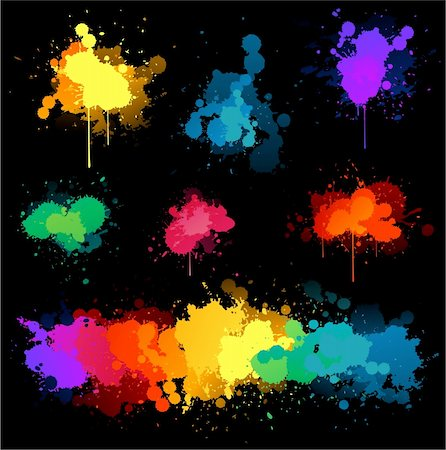spot paint - Paint splat illustrations Stock Photo - Budget Royalty-Free & Subscription, Code: 400-06093915
