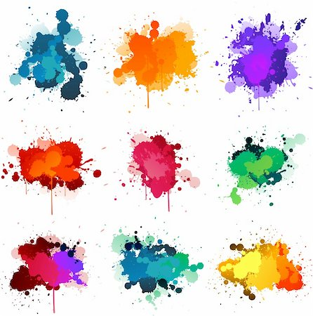 spot paint - Paint splat illustrations Stock Photo - Budget Royalty-Free & Subscription, Code: 400-06093916