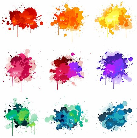 spot paint - Paint splat illustrations Stock Photo - Budget Royalty-Free & Subscription, Code: 400-06093917