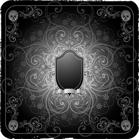 Gothic scroll background Stock Photo - Budget Royalty-Free & Subscription, Code: 400-06104334