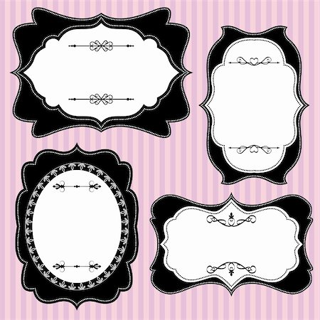 Set of ornate vector frames and ornaments Stock Photo - Budget Royalty-Free & Subscription, Code: 400-06105226